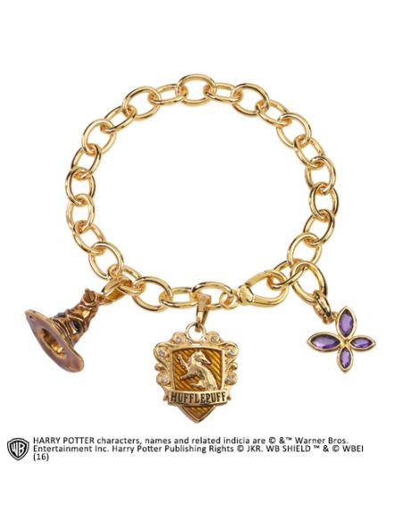 Pulsera de amuletos Lumos Hufflepuff - Harry Potter