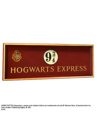 Placa de Madera Hogwarts Express - Harry Potter