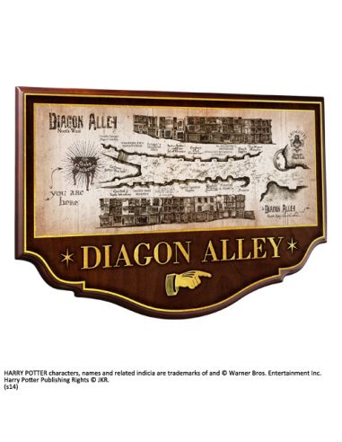 Señal Mapa del Callejón Diagon - Harry Potter