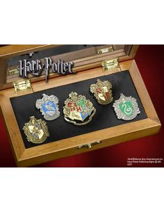 Set de 5 Pins escudos Hogwarts - Harry Potter