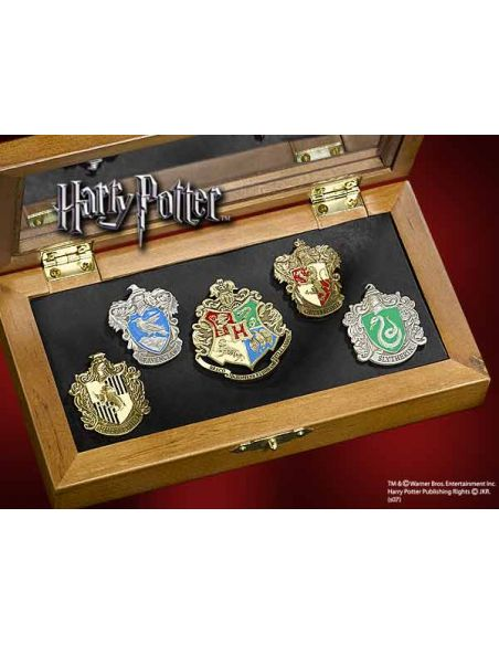 Set de 5 Pins escudos Hogwarts - Harry Potter