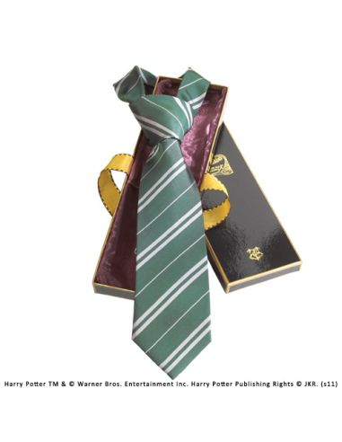 Corbata Slytherin 100% Seda - Harry Potter