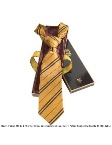 Corbata Hufflepuff 100% Seda - Harry Potter