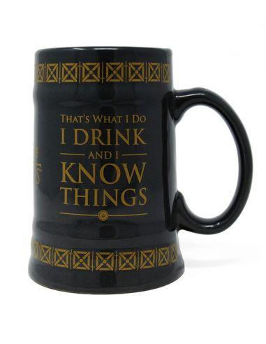 Jarra de Cerveza Drink & Know Things - Juego de Tronos