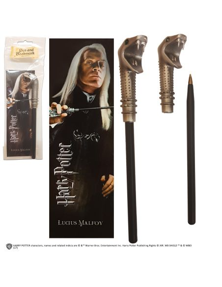 Bolígrafo y Marcapáginas Lucius Malfoy - Harry Potter