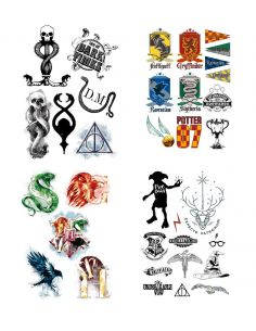 Pack 35 Tatuajes Temporales - Harry Potter