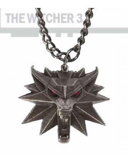 Colgante emblema Lobo con luz - The Witcher