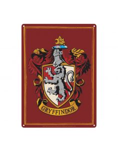 Placa Metálica Gryffindor - Harry Potter