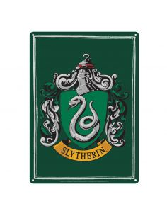 Placa Metálica Slytherin - Harry Potter