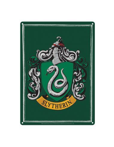 Placa Metálica Slytherin - Harry Potter