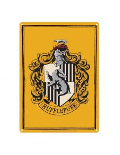Placa Metálica Hufflepuff - Harry Potter