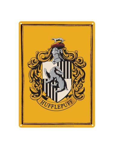 Placa Metálica Hufflepuff - Harry Potter