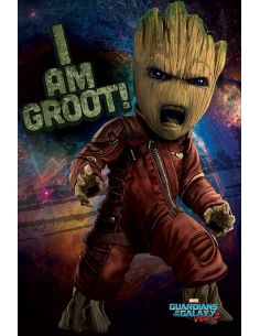 Póster Angry Groot - Guardianes de la Galaxia