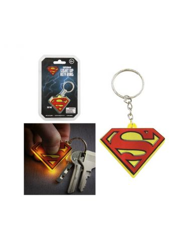 Llavero logo Superman con luz - DC Comics