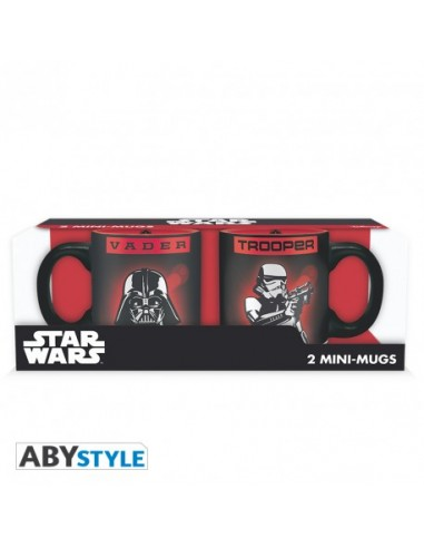 Pack 2 tazas expreso Darth Vader y Trooper - Star Wars