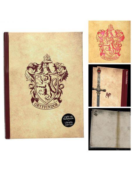 Libreta Con Luz Gryffindor Harry Potter
