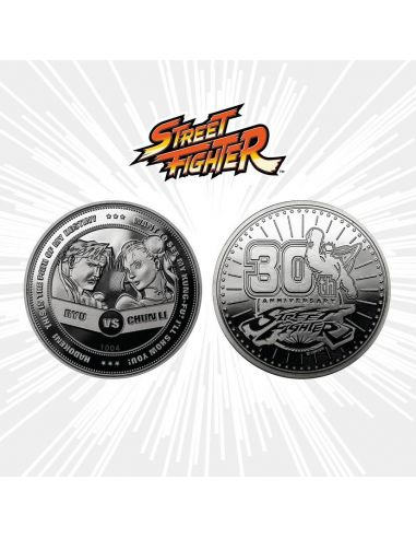 Moneda 30th aniversario Ryu vs Chun-Li - Edición Limitada - Street Fighter