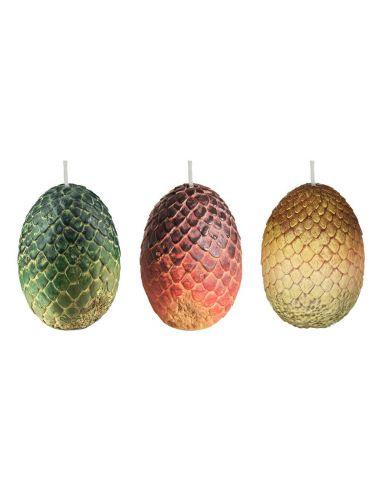 Set de 3 Velas Huevos de Dragones 6 x 9 cm - Juego de Tronos