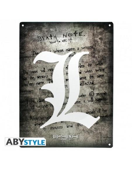 Placa metálica Símbolo L - Death Note