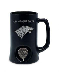 Jarra de Cerveza emblema giratorio Casa Stark - Juego de Tronos