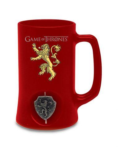 Jarra de Cerveza emblema giratorio Casa Lannister - Juego de Tronos
