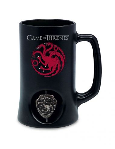 Jarra de Cerveza emblema giratorio Casa Targaryen - Juego de Tronos