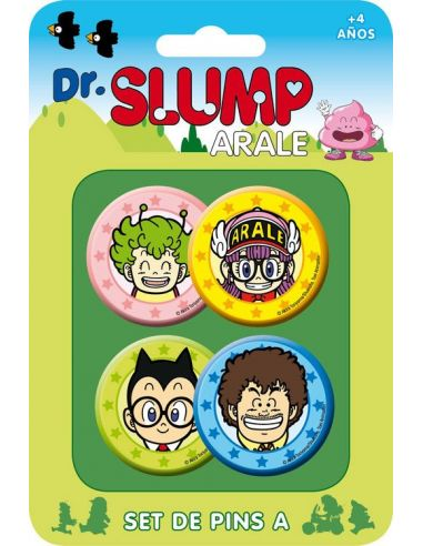 Pack 4 Chapas Set A - Dr. Slump