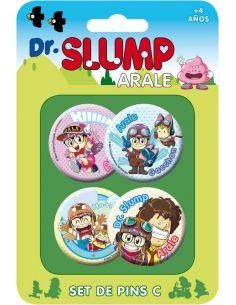 Pack 4 Chapas Set B - Dr. Slump