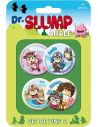 Pack 4 Chapas Set B - Dr. Slump