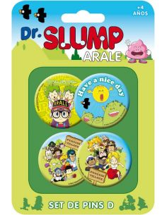Pack 4 Chapas Set C - Dr. Slump
