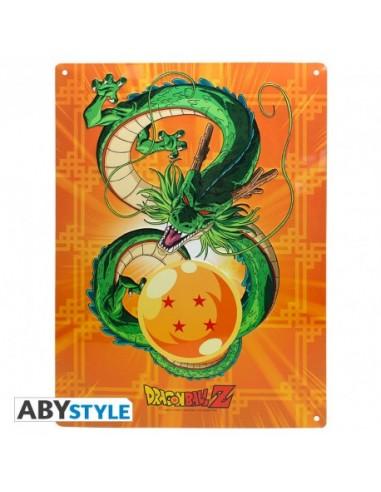 Placa metálica Shenron - Dragon Ball