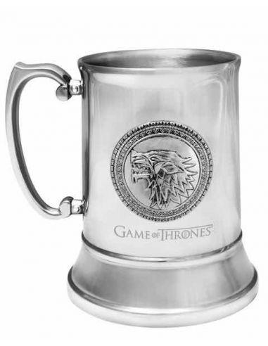 Jarra de Cerveza de Acero Inoxidable escudo Stark - Juego de Tronos