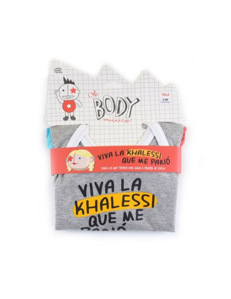 Body Viva la Khalessi... Manga Larga - Juego de Tronos