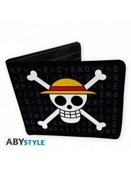 Pack Cartera y Llavero Bandera de Luffy - One Piece