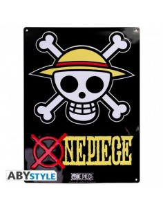 Placa metálica Bandera de Luffy - One Piece