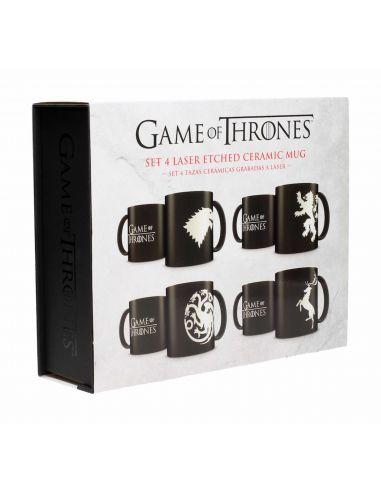 Set 4 tazas Juego de Tronos - Edición Limitada