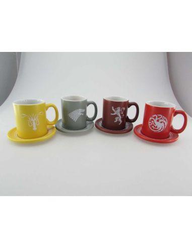 Set de 4 tazas Expreso de Juego de Tronos