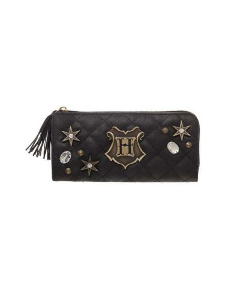 Monedero negro Hogwarts acolchado - Harry Potter