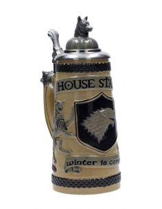 Jarra de Cerveza con tapa casa Stark - Juego de Tronos