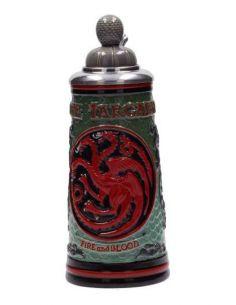 Jarra de Cerveza con tapa casa Targaryen - Juego de Tronos
