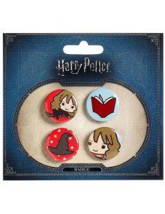 Pack 4 Chapas Cutie Hermione - Harry Potter