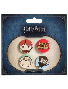 Pack 4 Chapas Cutie 2 - Harry Potter