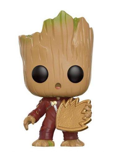 FUNKO POP! Groot con Escudo - Vengadores: Infinity War - Marvel