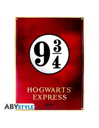 Placa metálica andén 9 3/4 - Harry Potter