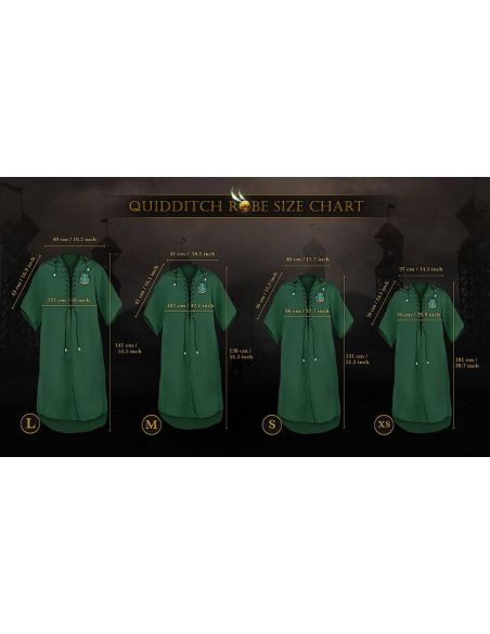 Túnica de Quidditch Slytherin - Harry Potter