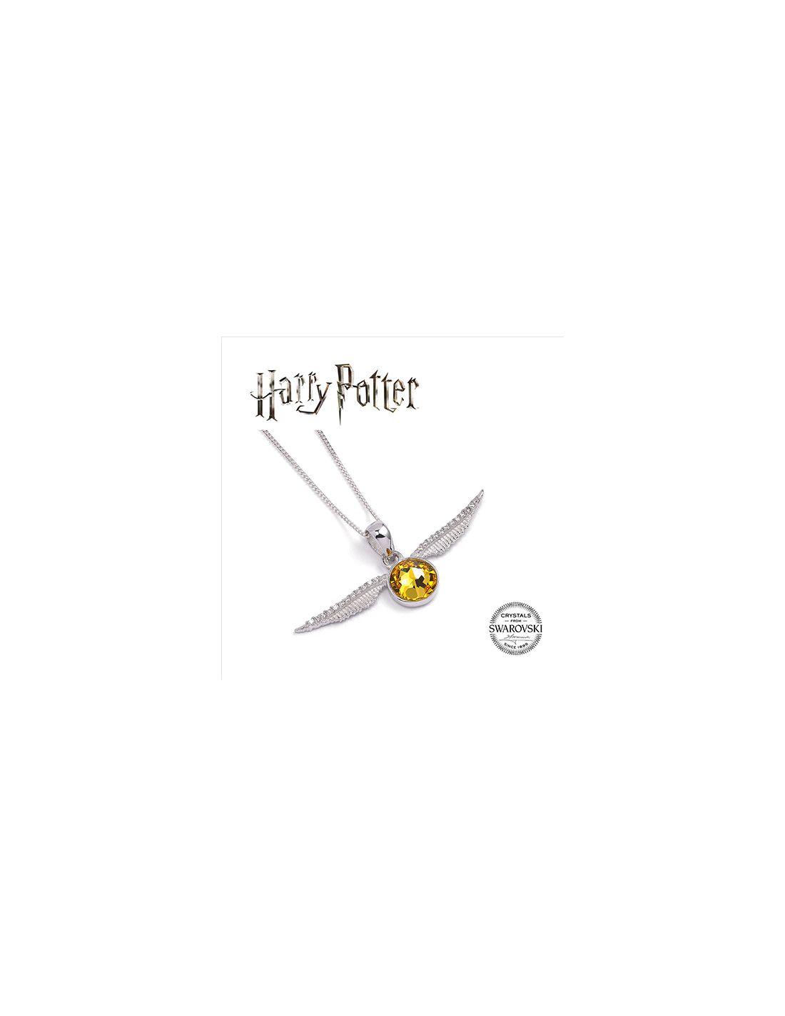 c72543e1eeb2 Colgante Snitch Dorada Plata y Swarovski - Harry Potter