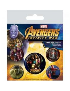 Pack de Chapas Infinity War - Marvel