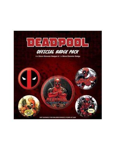 Pack de Chapas Deadpool - Marvel