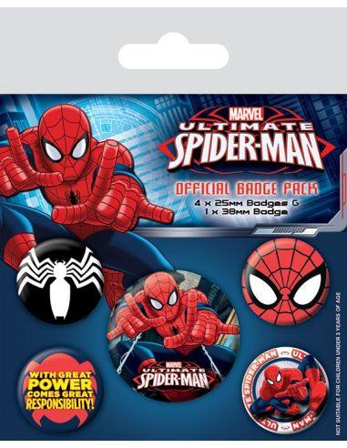 Pack de Chapas Spider-Man - Marvel
