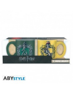 Set 2 tazas expreso Slytherin & Hufflepuff - Harry Potter
